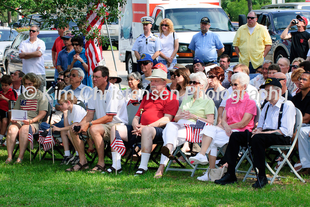 A large crowd gathered at the new Friendswood Veterans Memorial that was dedicated today.