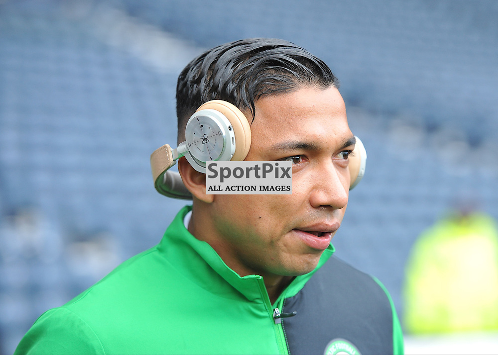 Emilio Izaguirre walks out onto the pitch ahead of the match between Rangers v Celtic, Betfred Cup semi-final, Hampden Park, Sunday 23 October 2016, (c) Angie Isac | SportPix.org.uk