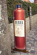 Kruidenbitter sign special alcoholic drink, Texel, Netherlands,