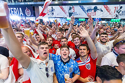 Fans in the sports bar celebrate - Ryan Hiscott/JMP - 07/07/2018 - FOOTBALL - Ashton Gate - Bristol, England - Sweden v England, World Cup Quarter Final, World Cup Village at Ashton Gate
