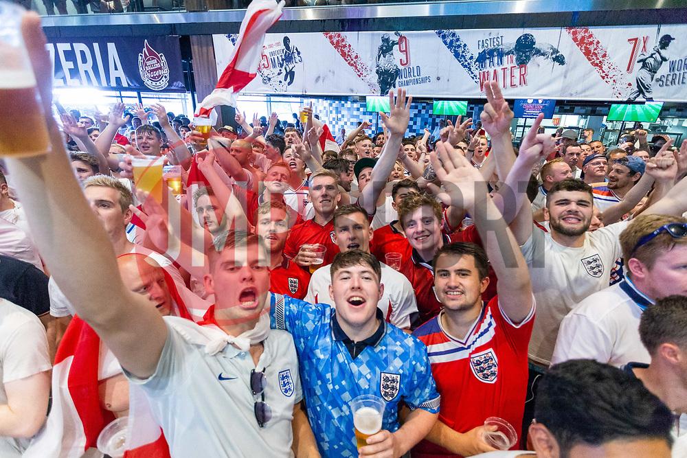 Fans in the sports bar celebrate - Ryan Hiscott/JMP - 07/07/2018 - FOOTBALL - Ashton Gate - Bristol, England - Sweden v England, World Cup Quarter Final, World Cup Village at Ashton Gate
