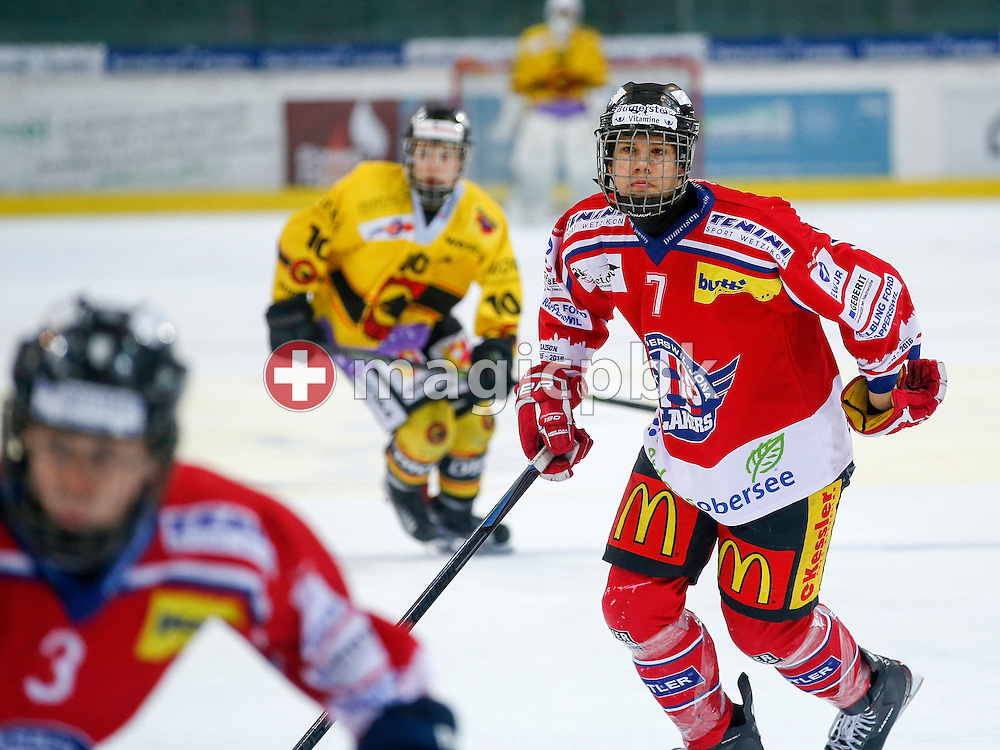 Rapperswil-Jona Lakers forward Roman MATHIS is pictured during a Novizen Elite ice hockey game between Rapperswil-Jona Lakers and SC Bern Future held at the Diners Club Arena in Rapperswil, Switzerland, Saturday, Feb. 6, 2016. (Photo by Patrick B. Kraemer / MAGICPBK)