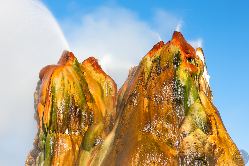 """Fly Geyser 7"" - Photograph of the famous man made Fly Geyser in Nevada."