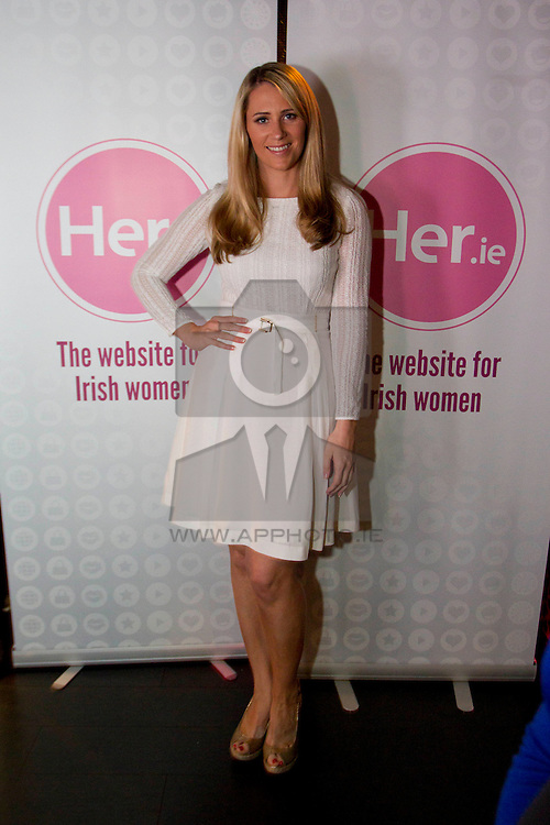No fee for Repro: 5/06/2012. Evanne Ní Chuilinn pictured at the launch of Her.ie, an exciting new website aimed at Irish women. Pic Andres Poveda