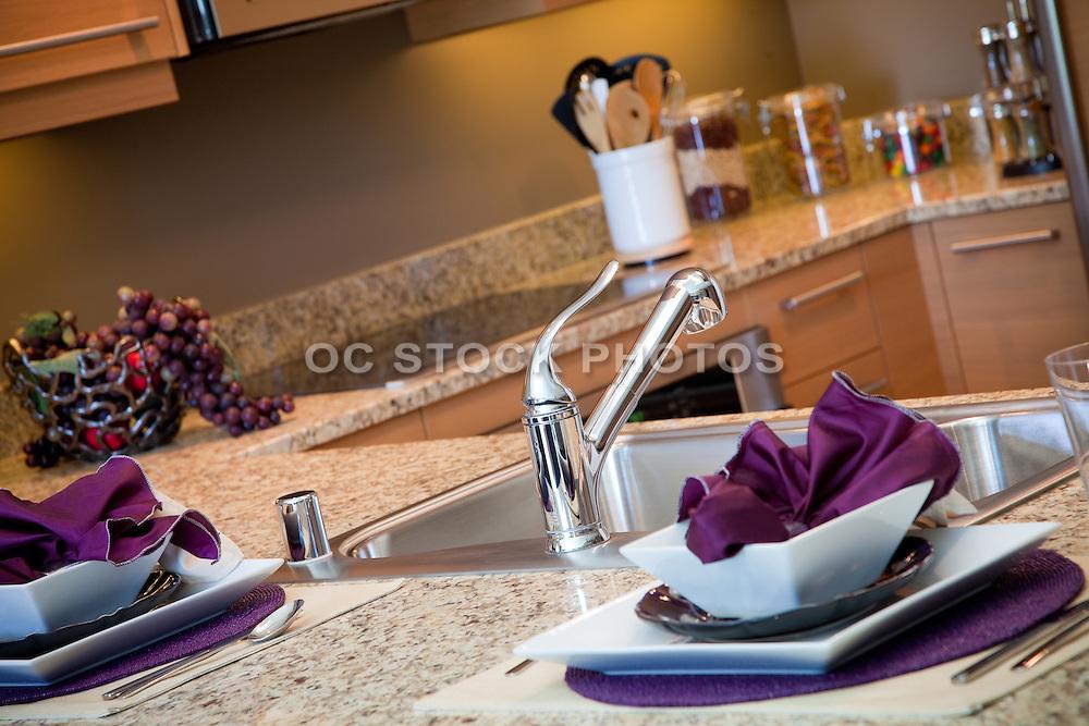 Model Home Kitchen Stock Photo