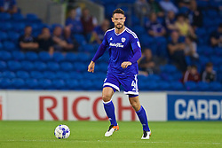 CARDIFF, WALES - Wednesday, August 17, 2016: Cardiff City's Sean Morrison in action against Blackburn Rovers during the Football League Championship match at Cardiff City Stadium. (Pic by David Rawcliffe/Propaganda)