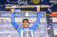Victoire Quintana Rojas Nairo Alexander - Movistar - 17.03.2015 - Tirreno Adriatico - Etape 07 : San Benedetto del Tronto - CLM<br /> Photo : Sirotti / Icon Sport<br />   *** Local Caption ***