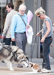 Former X factor star Katie Waissel  spotted in North London.She was with a man who did not appear to be her boyfriend Leon Callanan..They were on their way to go shopping for food at Tesco..Katie was walking a very small dog. The dog got a shock and reeled back when confronted with a much larger dog on the High Street.  Feeling his fear, Katie crouched down and tried to calm the mutt. Eventual her dog relaxed and made friend. A carefree looking Katie laughed at the incident with her fellow owner - a middle aged woman and set off for the shops. Katie's new friend (boyfriend?) had a rock star look and was covered in tattoos. .They laughed and joked as they walked up the road. Katie seemed to be struggling with the lead of the dog at one point getting it wrapped around her legs. - much to the amusement of her new friend. Photo by Gavin Rodgers/Parsons-Lock Media