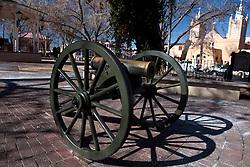Artillery at main plaza, Albuquerque, New Mexico, United States of America