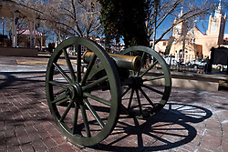 Artillery at main plaza, Albuquerque, New Mexico, United States of America
