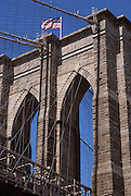 View of the Brooklyn Bridge New York NY USA