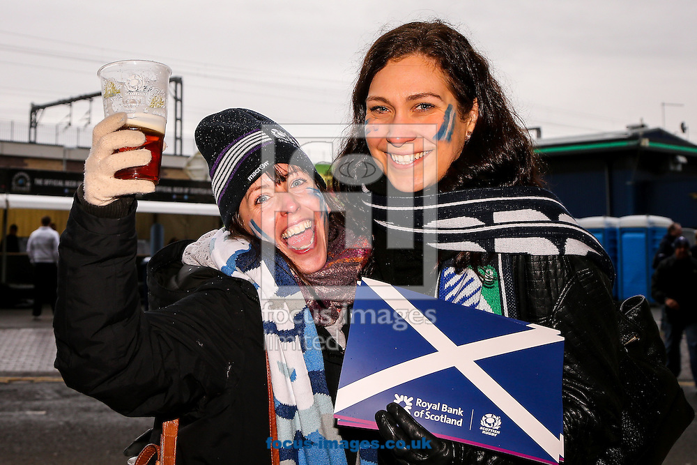 Supporters before the RBS 6 Nations match at Murrayfield Stadium, Edinburgh<br /> Picture by Andy Kearns/Focus Images Ltd 0781 864 4264<br /> 06/02/2016