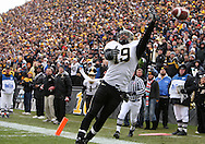 15 NOVEMBER 2008: Purdue wide receiver Brandon Whittington (19) tries to pull in a pass in the end zone in the first half of an NCAA college football game against Purdue, at Kinnick Stadium in Iowa City, Iowa on Saturday Nov. 15, 2008. Iowa beat Purdue 22-17.