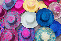 Mexique, Etat de Campeche, chapeaux mexicain, artisanat // Mexico, Campeche state, mexican hat
