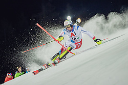 "29.01.2019, Planai, Schladming, AUT, FIS Weltcup Ski Alpin, Slalom, Herren, 1. Lauf, im Bild Ramon Zenhaeusern (SUI) // Ramon Zenhaeusern of Switzerland in action during his 1st run of men's Slalom ""the Nightrace"" of FIS ski alpine world cup at the Planai in Schladming, Austria on 2019/01/29. EXPA Pictures © 2019, PhotoCredit: EXPA/ Dominik Angerer"