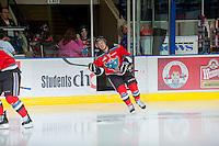 KELOWNA, CANADA - OCTOBER 10: Jesse Lees #2 of the Kelowna Rockets enters the ice as the Spokane Chiefs visit the Kelowna Rockets on October 10, 2012 at Prospera Place in Kelowna, British Columbia, Canada (Photo by Marissa Baecker/Shoot the Breeze) *** Local Caption ***