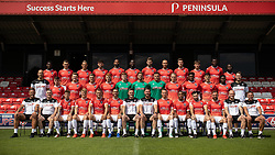 © Licensed to London News Pictures . 29/07/2019. Salford , UK . Team photo including academy players . Salford Football Club hold a pre-season photocall at the Peninsula Stadium , Moor Lane . Photo credit : Joel Goodman/LNP