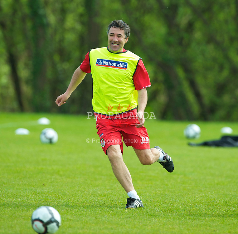 CARDIFF, WALES - Thursday, May 20, 2010: Wales' assistant coach Dean Saunders during a training session at the Vale of Glamorgan Hotel ahead of the International Friendly match against Croatia. (Pic by David Rawcliffe/Propaganda)