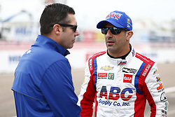 March 10, 2018 - St. Petersburg, Florida, United States of America - March 10, 2018 - St. Petersburg, Florida, USA: Tony Kanaan (14) hangs out on pit road during final practice for the Firestone Grand Prix of St. Petersburg at Streets of St. Petersburg in St. Petersburg, Florida. (Credit Image: © Justin R. Noe Asp Inc/ASP via ZUMA Wire)