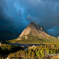 Stormy weather Shurburne lake glacier national park