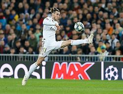 Real Madrid CF's Gareth Bale -controls the ball during UEFA Champions League match, groups between Real Madrid and Paris Saint Germain at Santiago Bernabeu Stadium in Madrid, Spain. November, Tuesday 26, 2019. Photo by Manu R.B./AlterPhotos/ABACAPRESS.COM