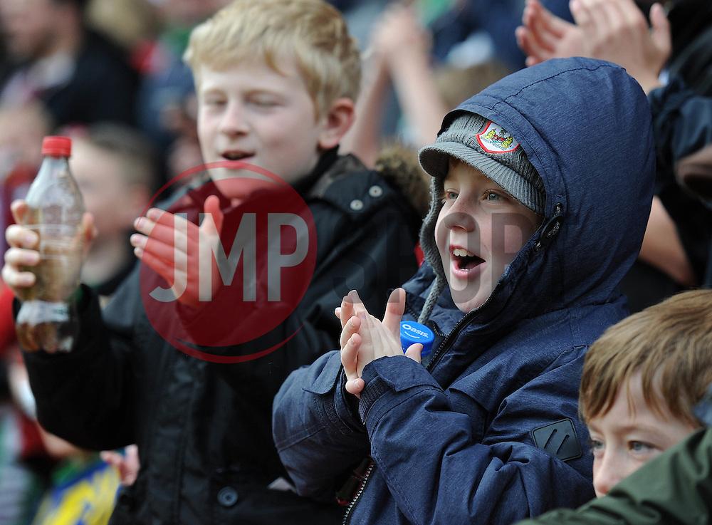 Bristol City fan - Photo mandatory by-line: Dougie Allward/JMP - Mobile: 07966 386802 - 03/05/2015 - SPORT - Football - Bristol - Ashton Gate - Bristol City v Walsall - Sky Bet League One