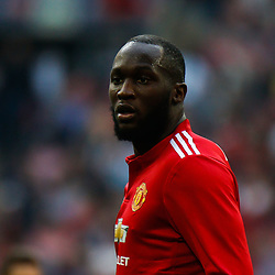 Romelu Lukaku of Manchester United during the Emirates FA Cup match between Manchester United and Tottenham Hotspur at Old Trafford on April 21, 2018 in Manchester, England. (Photo by Rob Sambles)