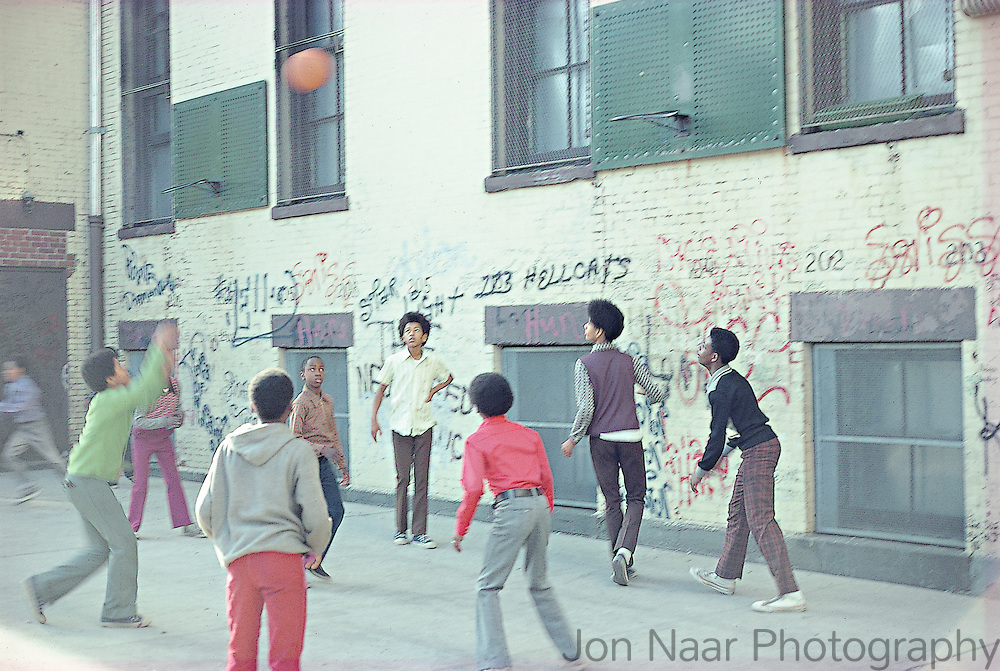 Basketball Game.  Harlem, New York 1973