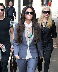 Image ©Licensed to i-Images Picture Agency. 18/07/2014. London, United Kingdom. Tulisa Contostavlos arrives at Crown Court this morning. Southwark Crown Court. Picture by Daniel Leal-Olivas / i-Images