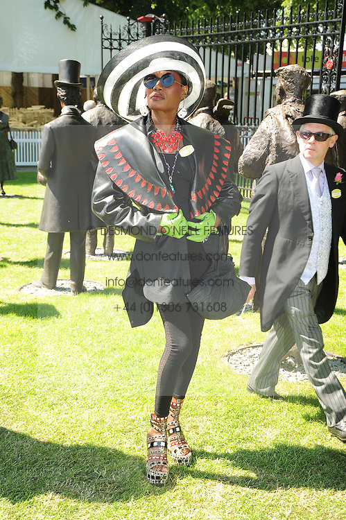 GRACE JONES at the second day of the 2010 Royal Ascot Racing festival at Ascot Racecourse, Berkshire on 16th June 2010.
