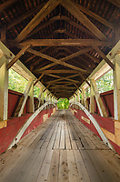 Lower Humbert Covered Bridge. Spanning Laurel Hill Creek. Laurel Highlands Pennsylvania