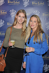 Left to right, the HON.LOUISA LOPES and the HON.EMILY LOPES at the Johnnie Walker Blue Label and David Gandy partnership launch party held at Annabel's, 44 Berkeley Square, London on 5th February 2013.