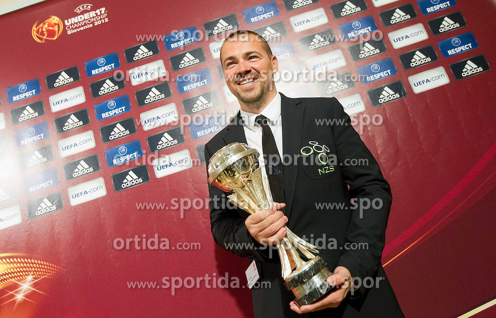 Milos Kostic, head coach of Slovenia at Final Round Draw of 11th UEFA European Under-17 Championship 2011/12, on April 4, 2012, in Ljubljana, Slovenia. (Photo by Vid Ponikvar / Sportida.com)