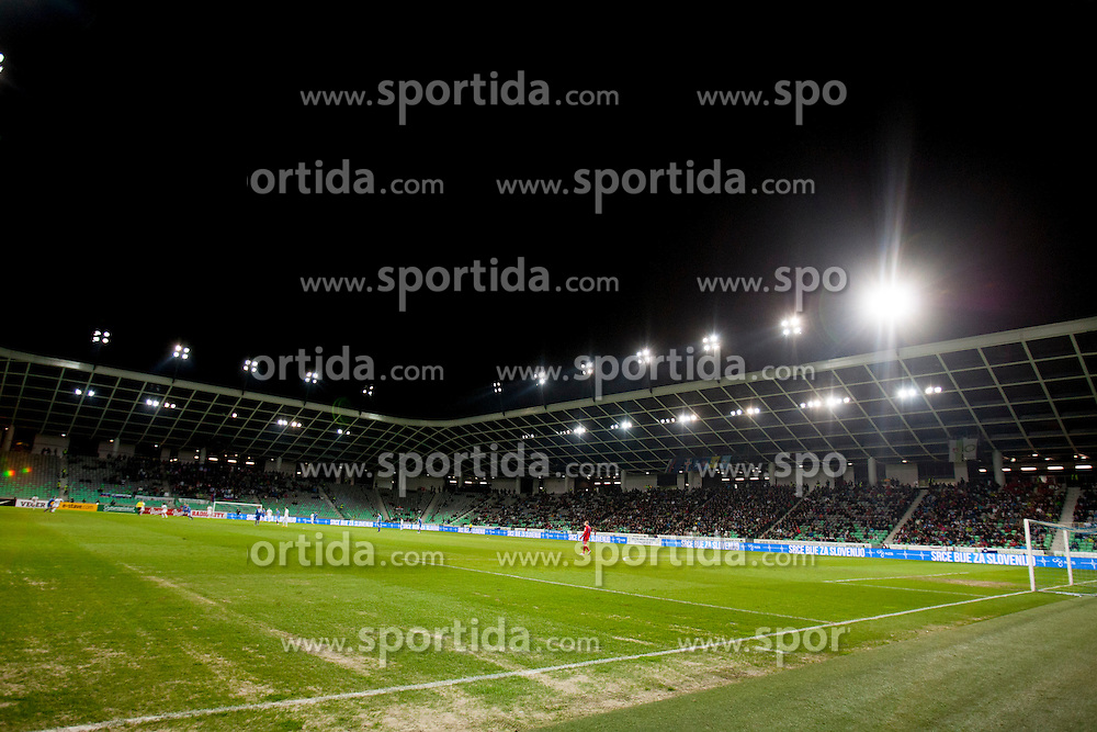 SRC Stozice during football match between National teams of Slovenia and Iceland in Group E of FIFA World Cup 2014 Qualification on March 22, 2013 in SRC Stozice, Ljubljana, Slovenia. (Photo By Urban Urbanc / Sportida).