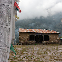 The monastery area in Melamchi Ghyang.