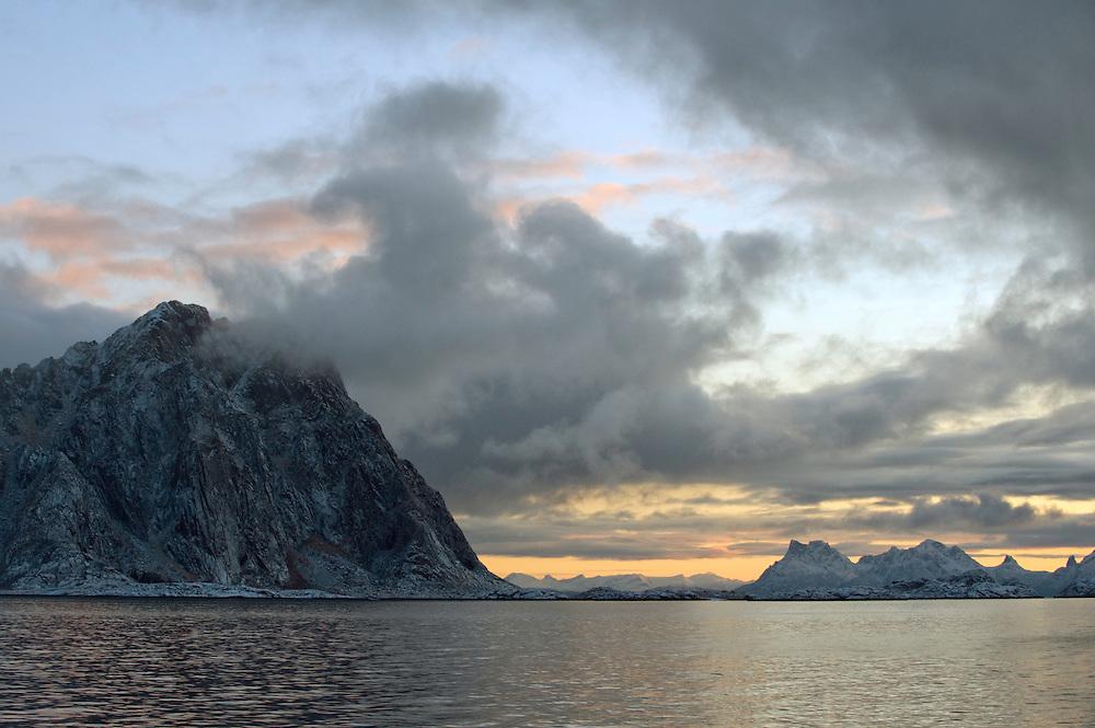 Arctic landscape, Lofoten, Norway,