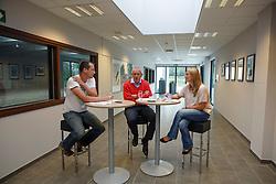 Georges Van Keerberghen (BEL), voorzitter LRV met Inge Vandael, directeur LRV en Kris Van Steen, journalist<br /> LRV - Oud Heverlee 2014<br /> © Dirk Caremans