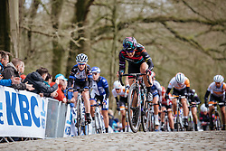 Tiffany Cromwell attacks the final metres of the Kemmelberg - Women's Gent Wevelgem 2016, a 115km UCI Women's WorldTour road race from Ieper to Wevelgem, on March 27th, 2016 in Flanders, Belgium.