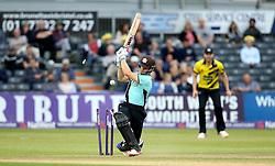 Zafar Ansari of Surrey is bowled by Matt Taylor of Gloucestershire - Mandatory by-line: Robbie Stephenson/JMP - 06/07/2016 - CRICKET - Brightside Ground - Bristol, United Kingdom - Gloucestershire v Surrey - NatWest T20 Blast