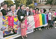 Parata del gay pride a Palermo, Leoluca Orlando,  Francesco Giambrone<br /> Gay pride parade in Palermo,Leoluca Orlando, Francesco Giambrone.