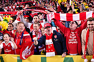 July 15 2017: Arsenal fans in full voice at the International soccer match between English Premier League giants Arsenal and A-League team Western Sydney Wanderers at ANZ Stadium in Sydney.