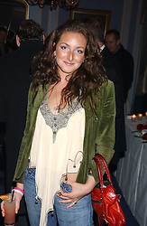 MISS NATASHA CORRETT daughter of interior designer Kelly Hoppen at a party to celebrate the launch of Dkkor Records at Kettners, Romilly Street, Soho, London on 31st March 2005.<br />