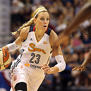 Katie Douglas, Connecticut Sun, in action during the Connecticut Sun Vs Tulsa Shock WNBA regular season game at Mohegan Sun Arena, Uncasville, Connecticut, USA. 3rd July 2014. Photo Tim Clayton