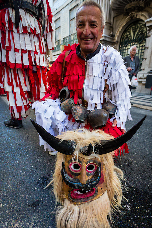 The Iberian Mask Festival in Lisbon, mostly has masks from the Iberian Peninsula, but each year other traditions from all accross Europe are invited to take part. In this case its the survakari, from Bulgaria.