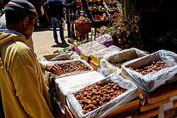 Dates for sale in a market in Taliouine, a little mountain village in the south of Morocco<br /> <br /> (c) Andrew Wilson | Edinburgh Elite media