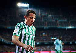February 28, 2019 - Valencia, U.S. - VALENCIA, SPAIN - FEBRUARY 28: Andres Guardado, defender of Real Betis Balompie looks during the Copa del Rey match between Valencia CF and Real Betis Balompie at Mestalla stadium on February 28, 2019 in Valencia, Spain. (Photo by Carlos Sanchez Martinez/Icon Sportswire) (Credit Image: © Carlos Sanchez Martinez/Icon SMI via ZUMA Press)