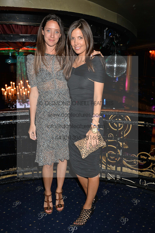 Left to right, INDIA LANGTON and AMANDA FERRY at The Hoping Foundation's 'Starry Starry Night' Benefit Evening For Palestinian Refugee Children held at The Cafe de Paris, Coventry Street, London on 19th June 2014.
