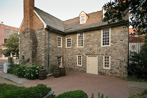 Exterior View Of Old Stone House, Georgetown District, Washington, DC.  Dating From