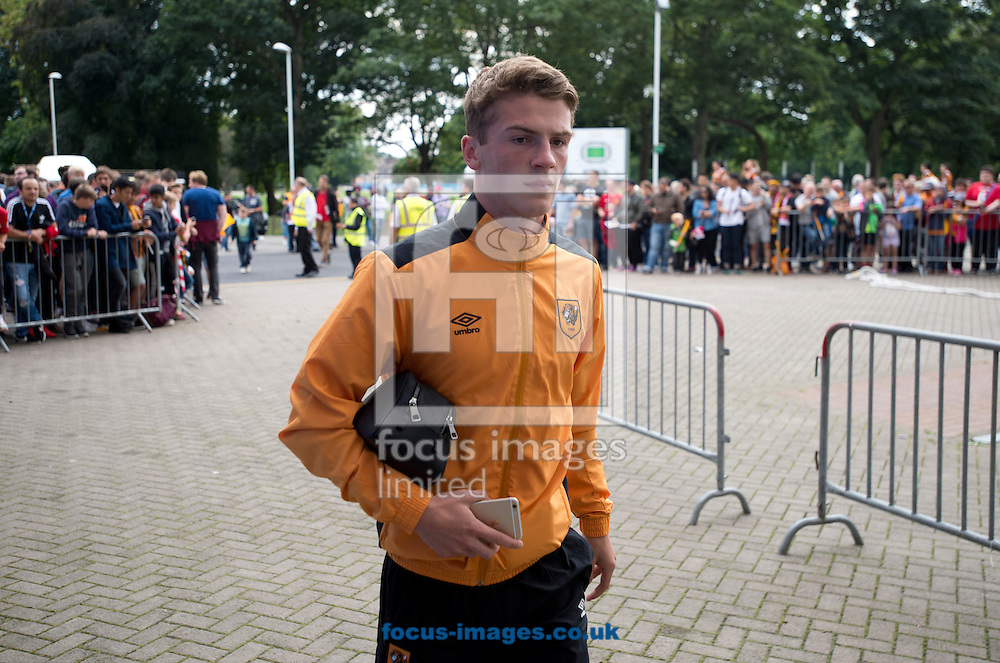 Josh Tymon of Hull City arrives at the stadium before the Premier League match at the KCOM Stadium, Hull<br /> Picture by Russell Hart/Focus Images Ltd 07791 688 420<br /> 27/08/2016