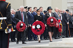 © London News Pictures. 08/05/15. London, UK. Political leaders attend the VE70 Service of Remembrance, Central London. Photo credit: Laura Lean/LNP/05/15. London, UK. XXX, Central London. Photo credit: Laura Lean/LNP